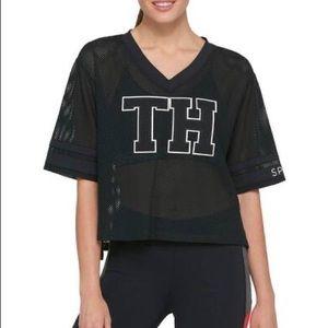 Tommy Hilfiger sport mesh crop shirt